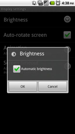 Dimming brightness will prolong battery life