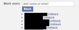 A list of folk you've blocked ...