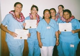 Here is a group that just became Certified Nursing Assistants.