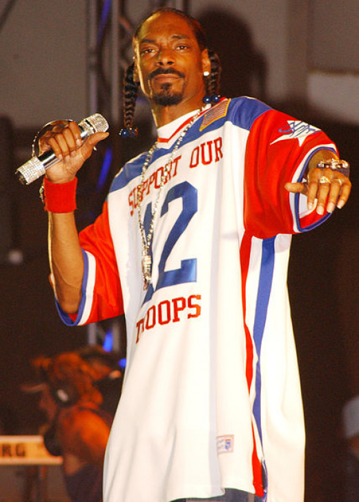 Snoop Dogg performing in California