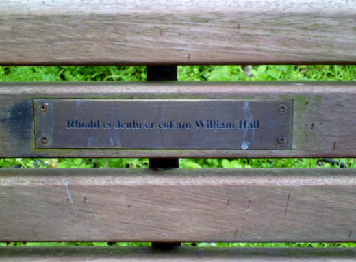 A seat in the memory of William Hall whom I remember clearly.