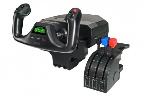 Saitek Pro Flight Yoke with Three-Lever Throttle