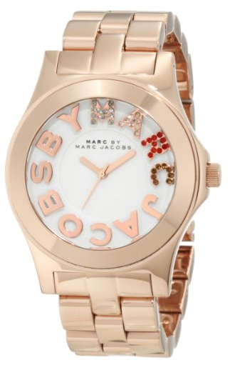 Marc by Marc Jacobs Rose Gold Rivera Logo Women's Watch's