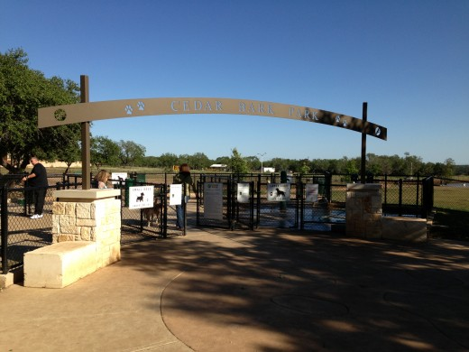 Cedar Park Bark Park Entrance - Cedar Park TX