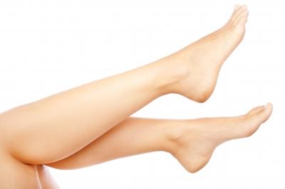 A womans leg