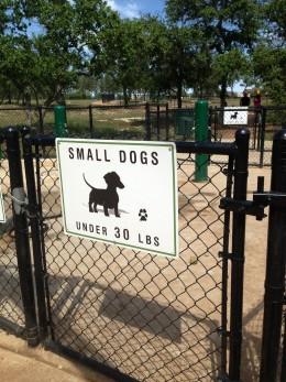 Cedar Park Bark Park - Small Dogs under 30lbs Entrance  - Cedar Park TX