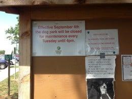 Park Closes for maintenance Tuesdays until 4PM -Cedar Park Bark Park - Cedar Park TX