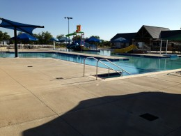 Cedar Park TX Memorial Park  - Water Slides