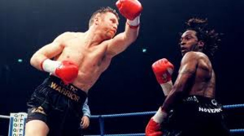 Steve Collins and Nigel Benn waged a war when they fought each other. Benn was known as the Dark Destroyer.