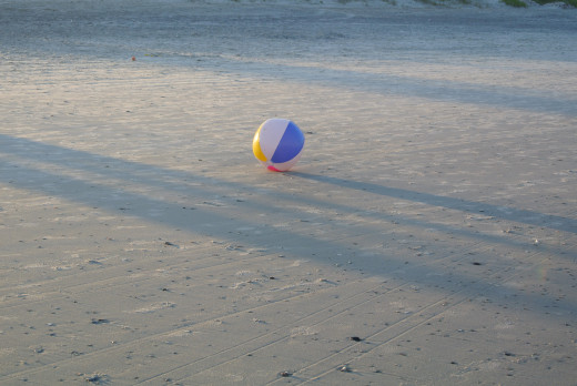 Lonely beach ball, reminds me more of childhood memories
