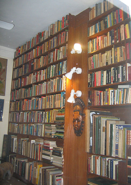 The Book Shelf of Late Mrs. Indira Gandhi, Former Prime Minister of India.