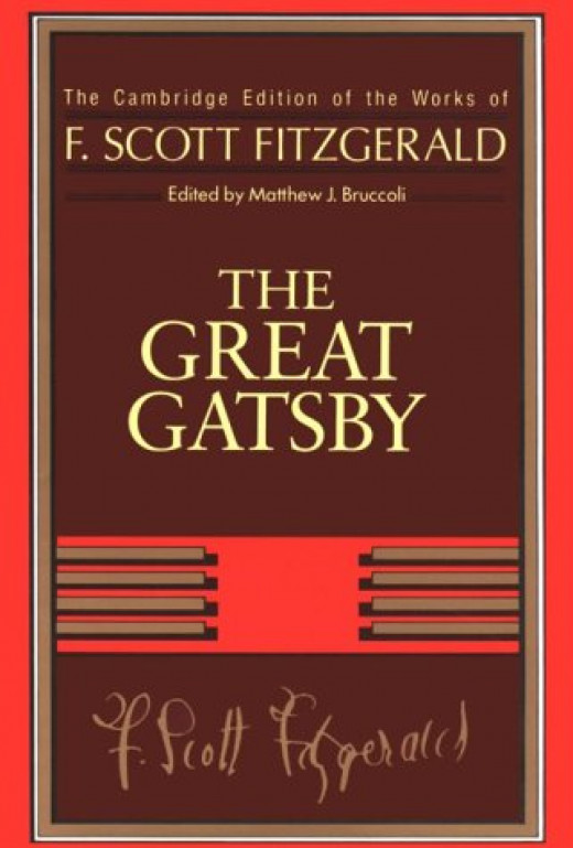 Fitzgerald's greatest novel with his signature at the bottom.