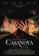 Casanova (2005) directed by Lasse Hallström and starring Heath Ledger and Sienna Miller