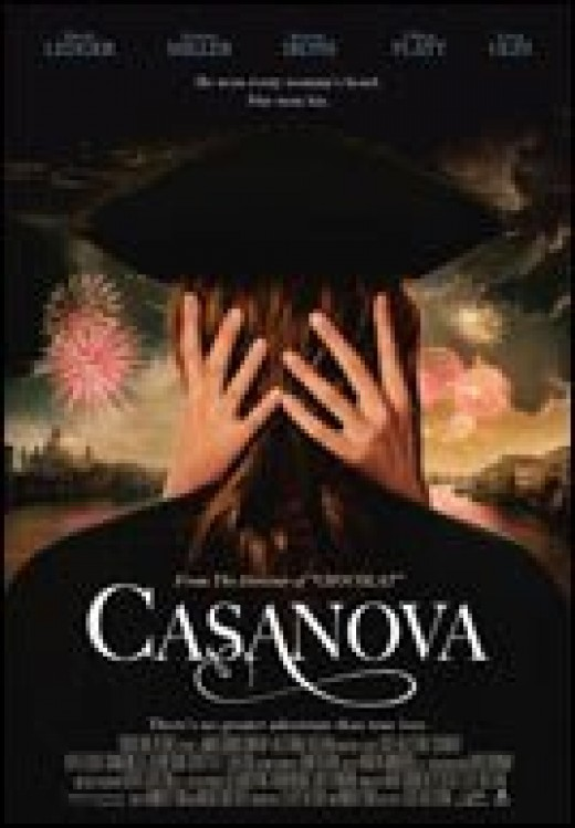 Casanova (2005) directed by Lasse Hallström and starring Heath Ledger and Sienna Miller