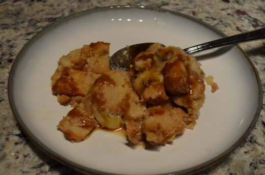 Mmm Bananas Foster Bread Pudding with Spiced Rum Sauce! Now bring on the ice cream!
