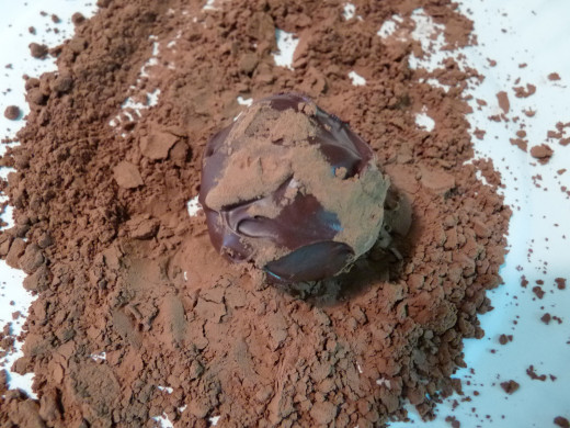 Roll truffles in unsweetened cocoa powder to give them a nice finish.