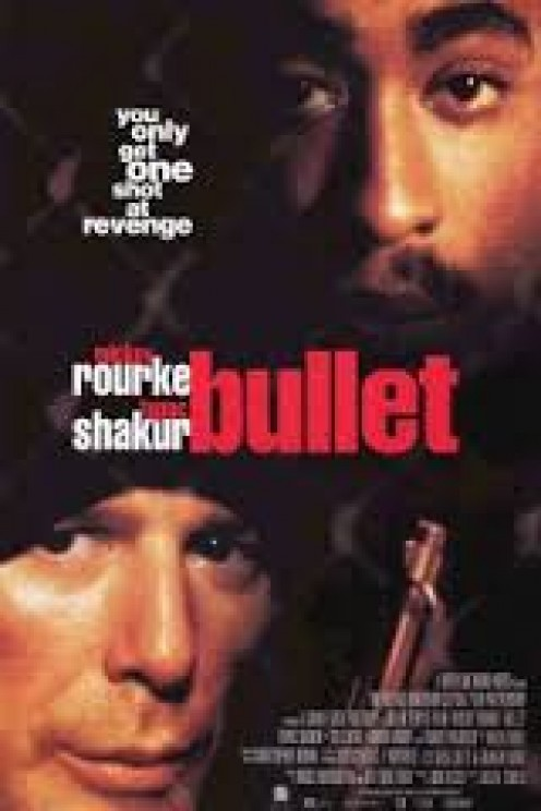 Tupac Shakur and Mickey Rouke played as enemies in Bullet. Tupac played the role of Tank the gangster.