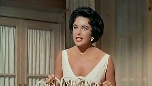 Elizabeth Taylor in Cat on a Hot Tin Roof movie