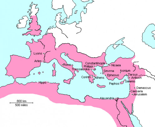 After Jerusalem, early Christianity began to spread throughout Asia Minor in the predominantly Greek speaking, gentile, eastern half of the Roman Empire