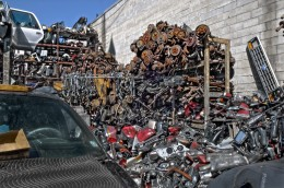 Scrap yard full of rusty gold