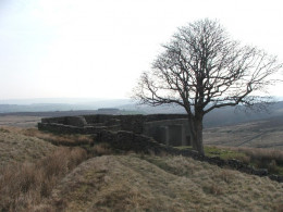 Top Withens, the house said to have inspired that of Wuthering Heights in Emily Bronte's classic novel.