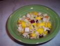 Healthy Brown Rice Salad with Turkey and Mango