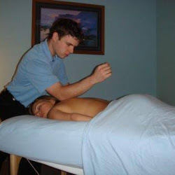 This is me doing some deep tissue on my wife.