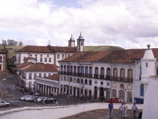Ouro Preto, Minais Gerais, Brazil.  Beautiful Portuguese Architecture