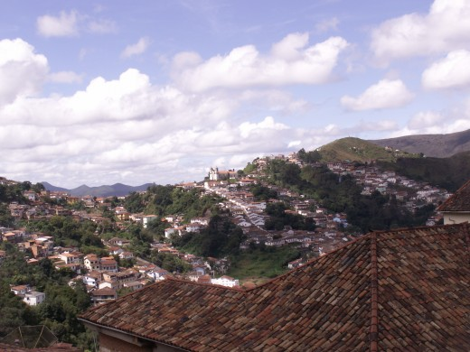 Beautiful view of the idyllic town of Ouro Preto in Minais Gerais state of Brazil (Large view)