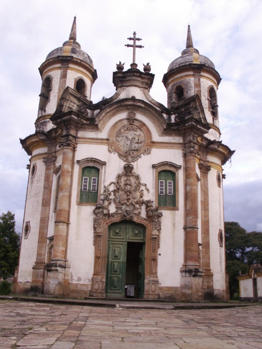 Another Brazilian Catholic church in Ouro Preto with beautiful portuguese architecture.