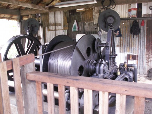 This cable generator powers the car that takes you down into the gold mine in Ouro Preto, Brasil
