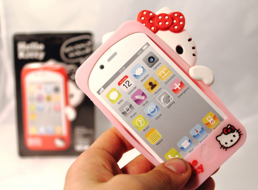 Hello Kitty Peekaboo silicone case for iPhone