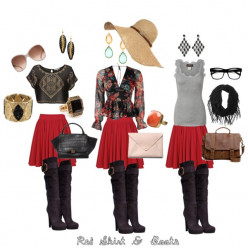Lola Style: Red Skirt and Boots