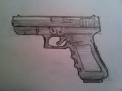 How to Draw a 9mm Gun