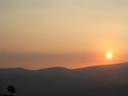 Sunset over Mount Meron