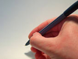 right handed writer