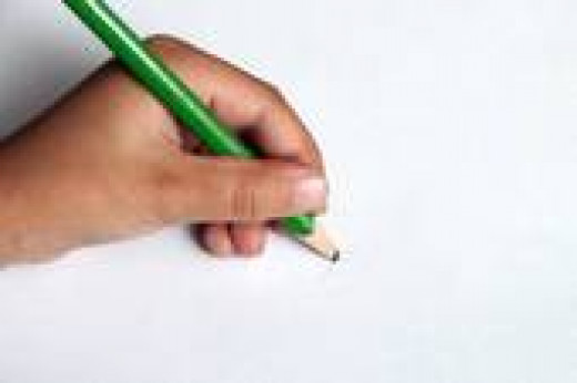 left handed writer