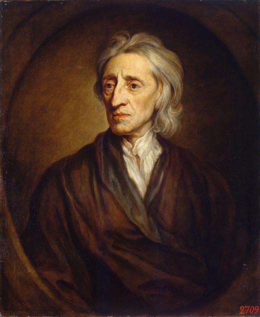 A portrait of John Locke