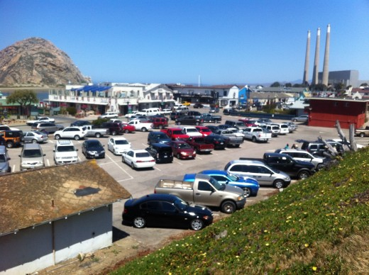A view above the embarcadero in Morro Bay.