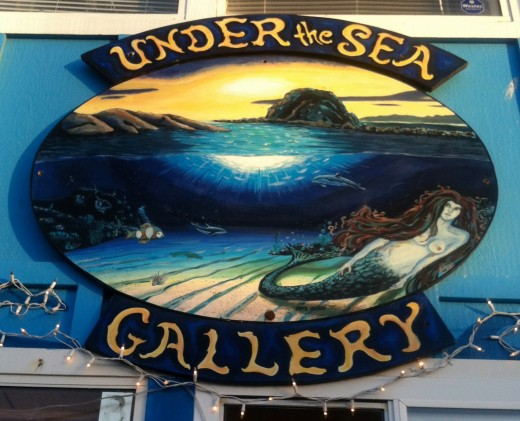 Under the Sea Gallery - a shop with a large variety of expensive fantasy and mythical items.