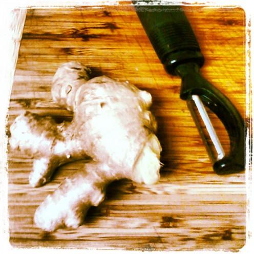 Peel Fresh Ginger Root