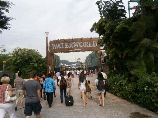 Waterworld attractions at the Universal Studio in Singapore