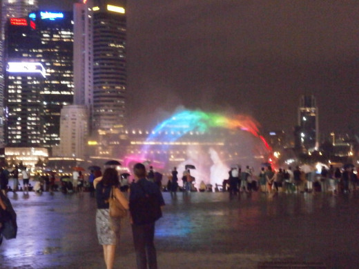 Fountain show at Marina Bay