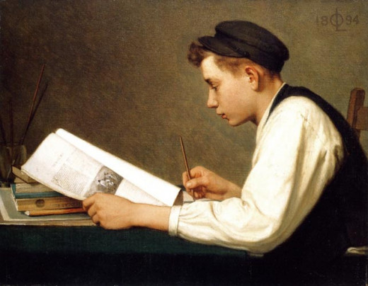 The young student by Ozias Leduc. 1894 (Public domain image, copyright expired)