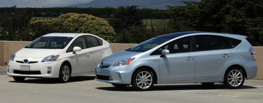 Toyota Prius V car which is perfect for families