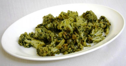Cauliflower in Mint sauce