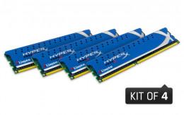 Kingston Technology HyperX 16 GB Kit (4x4 GB Modules) 16 Quad Channel Kit 1600 (PC3 12800) 240-Pin DDR3 SDRAM