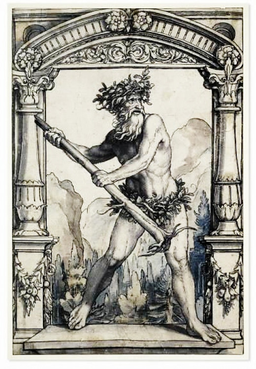 Wild Man by Holbein the Younger