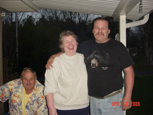 My stepdad with his sister Marion and her husband, Uncle Jerry