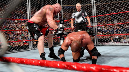 Brock Lesnar Punishes Triple H